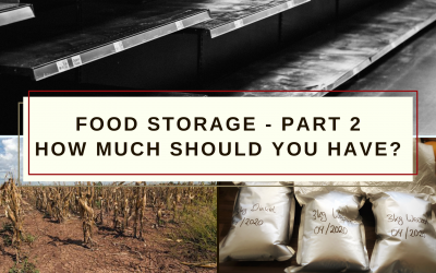 Food Storage – Part 2: How much should you have?
